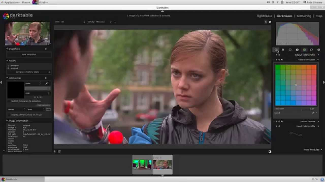 Darktable Free and Open Source Color Correction Software for