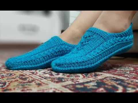 Вязание спицами тапочки носки следки тапочки
