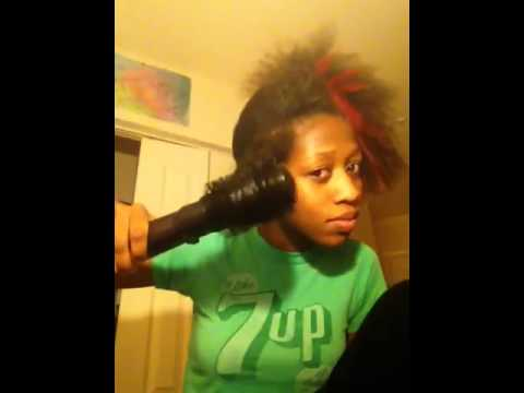 infiniti pro by conair spin air rotating styler by infinty by conair on natural hair youtube