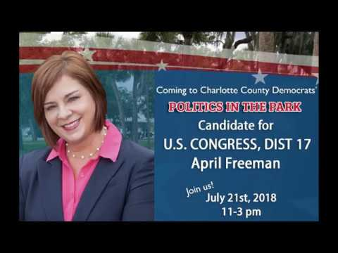 April Freeman at Charlotte County Politics in the Park