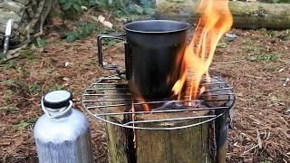 Making A Swedish Fire Torch.