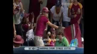 Chanderpaul's Century vs. Ireland Part 1