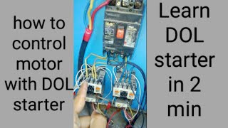 dol starter connection and control for motor