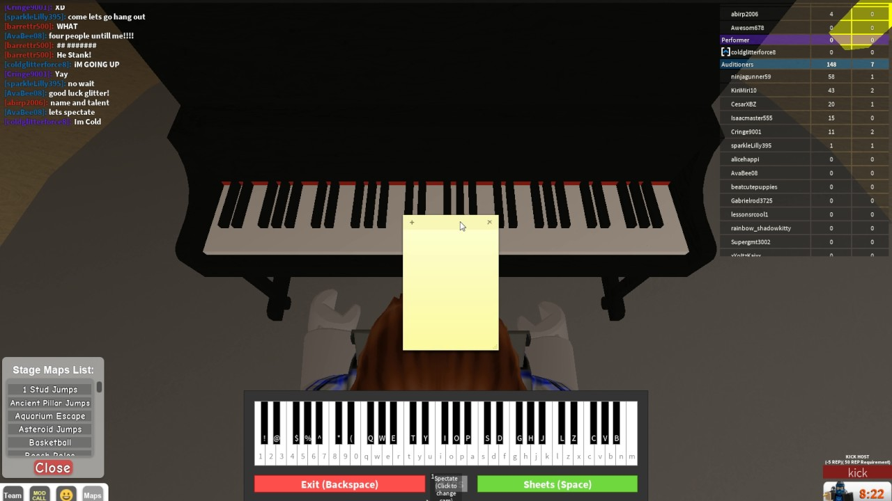 roblox  piano hack working  roblox