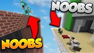 UN NOOB vs DES SUPER NOOBS! - Minecraft BED WARS