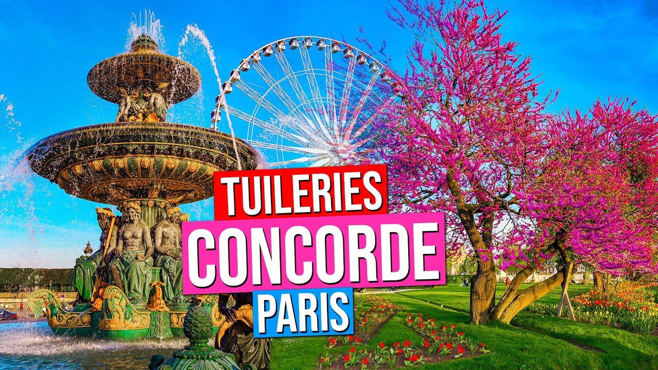 Place De La Concorde Jardin Des Tuileries Paris France Paris In