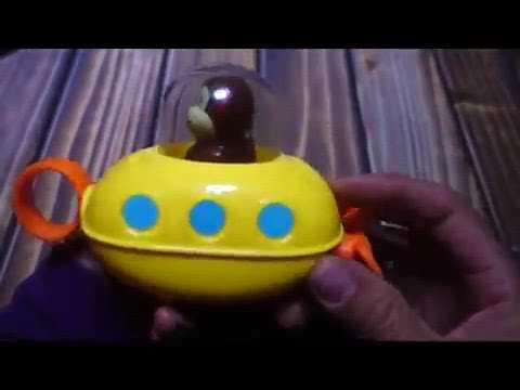 Skip Hop Zoo Bath Pull and Go Submarine Monkey