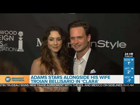 Patrick J. Adams on working with his wife in new film 'Clara'