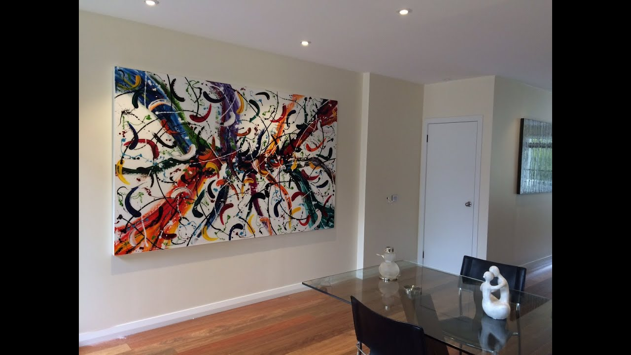 interior design art ideas - sydney art studio abstract art custom