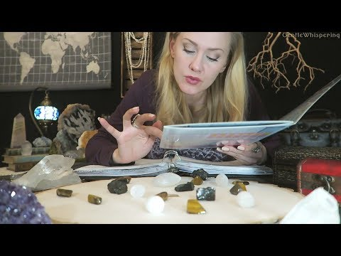 Crystals Cataloging 💎 ASMR • Page Flipping • Unintelligible Whispers • Listen While Study
