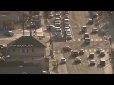 Los Angeles Police Car Chase Ends in Crash in Azusa