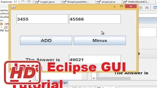 [Java Eclipse Tutorial] Java Eclipse GUI Tutorial 1 # Creating  First GUI Project in Eclipse