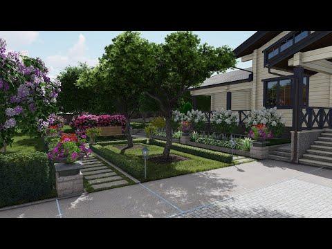 Ландшафтный дизайн  Проект участка 30 соток  Москва. Март 2020
