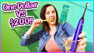 🤓 ONE DOLLAR TOOTHBRUSH VS $200 TOOTHBRUSH! 🤓 Terra Test That!!