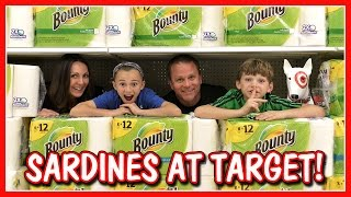 We take on the sardines game of side and seek in Target! I can't be...