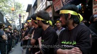 Shia Muslims replicate the sufferings of Hussein ibn Ali on the Day of Ashura 2017 Video