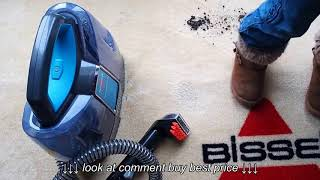 Bissell SpotClean Cordless Portable Carpet Cleaner Stain Test