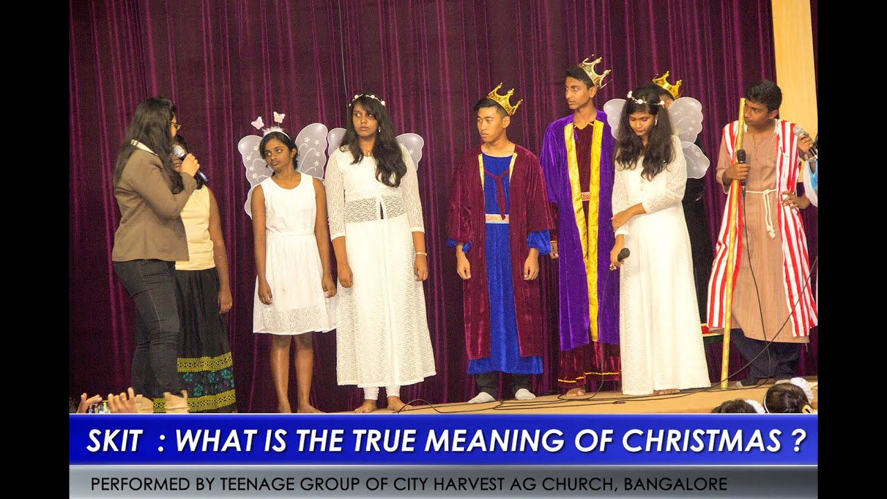 Free Printable Christmas Plays Church.Christian Skit Drama Comedy What Is The True Meaning Of Christmas