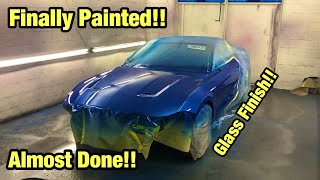 Rebuilding My Totaled Wrecked 2018 Ford Mustang Gt From Copart Salvage Auction Finally Painted