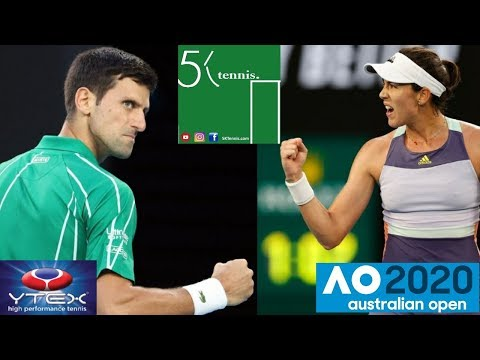 Novak Djokovic defeats Roger Federer. Women's Semifinals. Australian Open 2020 Tennis Talk