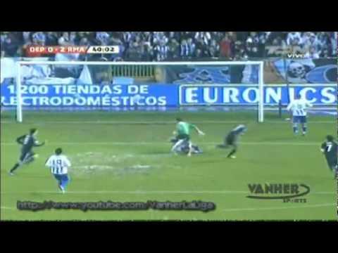 Little Zizou  Guti backheel assist against Deportivo La Coruna