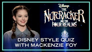 Mackenzie Foy Takes On A Disney Style Speed Round | Disney Style