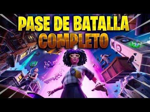MOSTRANDO TODO EL PASE DE BATALLA COMPLETO TEMPORADA 7 FORTNITE CAPITULO 2 INVASION