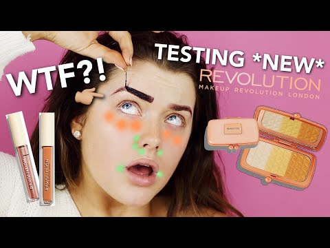 TESTING NEW IN MAKE UP REVOLUTION PRODUCTS! | Rachel Leary