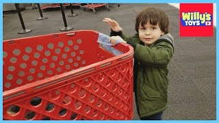 Cleaning the Target Shopping Cart and LEGO City Fun - Willy