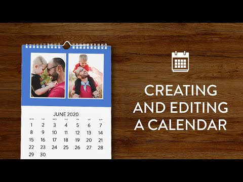 Creating And Editing A Calendar In Snapfish