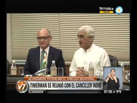 Visión 7: Timerman se reunió con el canciller Indio