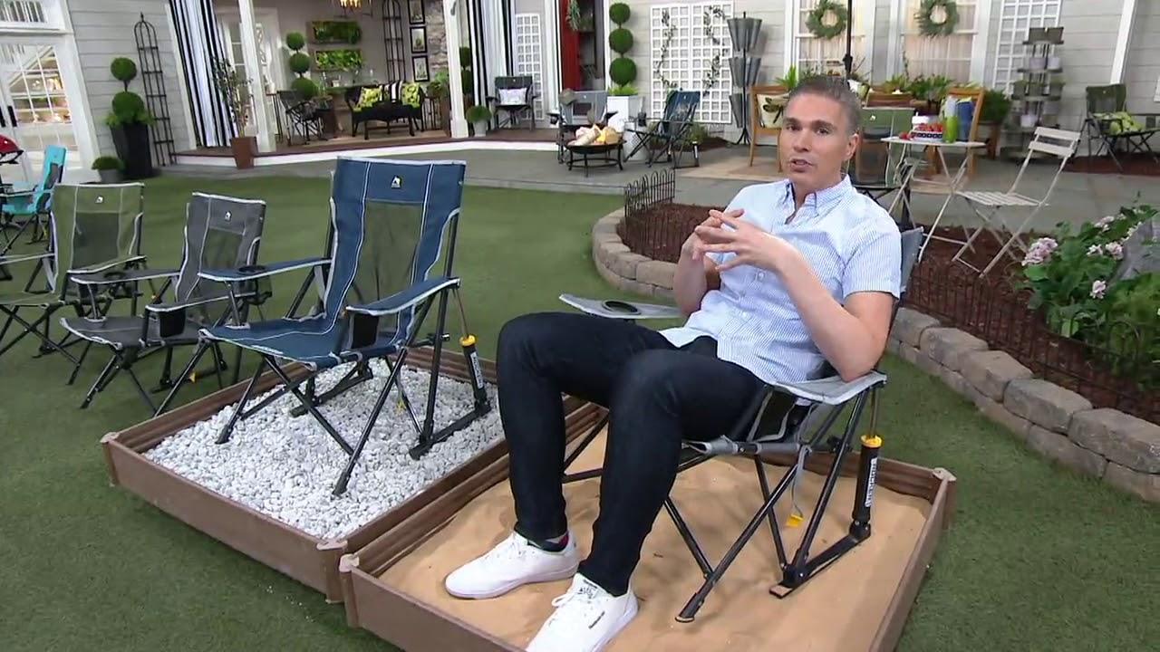 Gci Outdoor Kickback Pro Rocker Chair W Carry Strap On Qvc Youtube