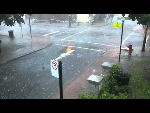 Mega hail storm in Montreal, Pointe Claire