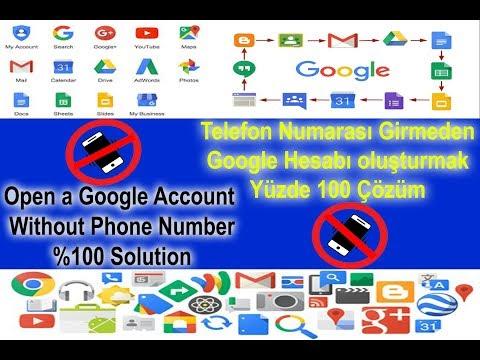 Telefon numarası girmeden Google hesabı açma