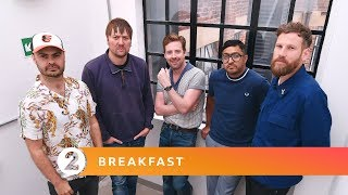 Kaiser Chiefs - Nothing Breaks Like A Heart (Mark Ronson ft Miley Cyrus) Radio 2 Breakfast