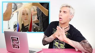 HAIRDRESSER REACTS TO AMERICAS NEXT TOP MODEL MAKEOVERS! (SEASON 18)