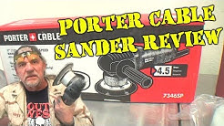 Sanding Bondo With An Electric Sander - PORTER CABLE