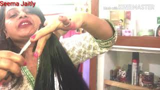 Three Step haircut in long hair/front layer with steps and back 3 step haircut/Seema Jaitly