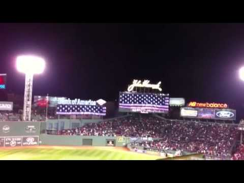 2004 Red Sox video on big screen