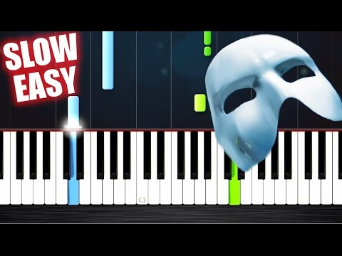 The Phantom Of The Opera Theme - SLOW EASY Piano Tutorial by PlutaX