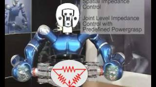 Justin Humanoid Robot with DLR III arms and DLR II hands