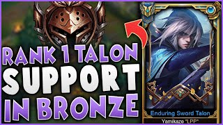 I Play Support Talon in Bronze! | Challenger Talon Carry in Iron/Bronze| Iron To Challenger #1