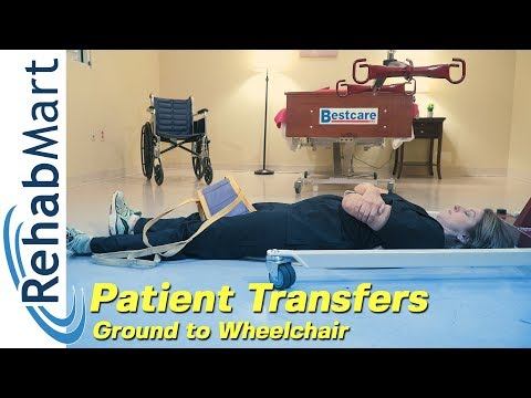 How To Use A Hoyer Patient Lift To Transfer A Patient From The Ground To Their Wheelchair
