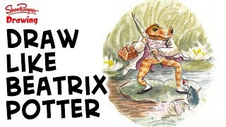 How to draw and paint like Beatrix Potter - Mr Jeremy Fisher