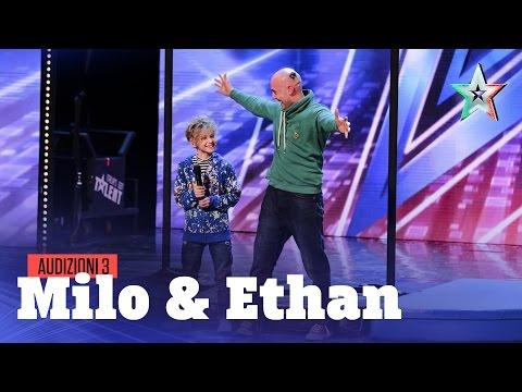 Milo ed Ethan, acrobazie in famiglia