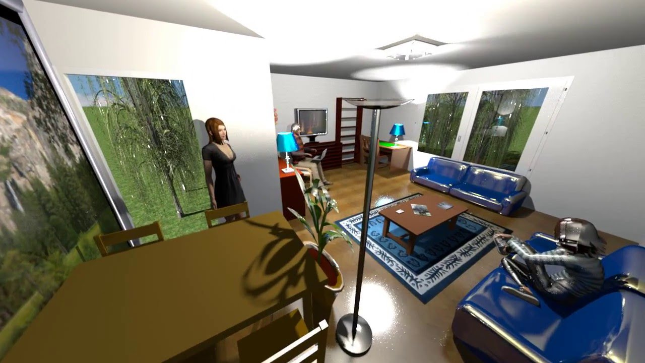 Sweet home 3d render video demonstration youtube for Sweet home 3d mobili