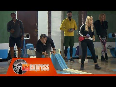 Vedetele din Asia Express joacă bowling ca în Epoca de Piatră. Cine a câștigat întrecerea