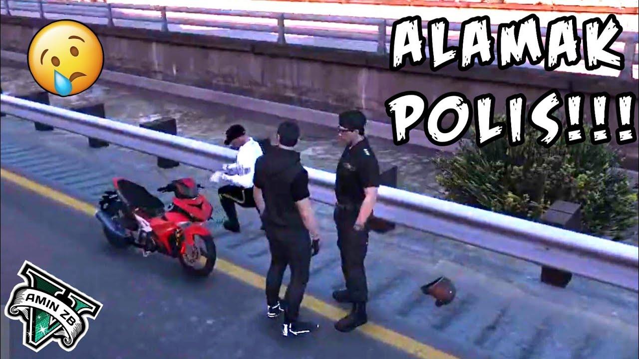 Baru Beli Ysuku 2kali kena Tahan Dengan Polis - GTA 5 Malaysia