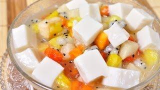 Almond Jelly With Fruit Salad  (tao Huai Fruit Salad)