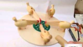 Vintage/classic Playing Pull String Wood Chicken Eating Seeds Wooden Toy